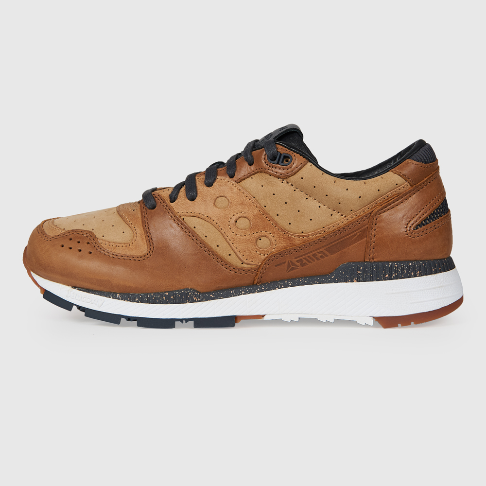 SAUCONY AZURA LEATHER BROWN