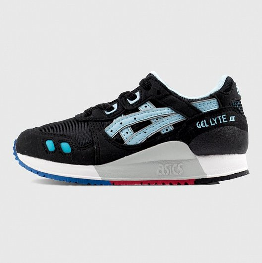 Кроссовки ASICS GEL-LYTE III GS BLACK/BLUE C5A5N - 9040