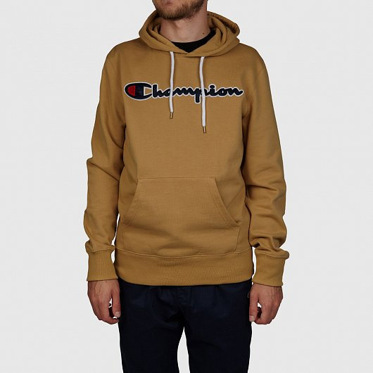 ТОЛСТОВКА CHAMPION SATIN SCRIPT LOGO COTTON TERRY HOODIE
