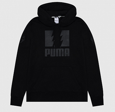ТОЛСТОВКА PUMA X THE HUNDREDS HOODIE BLACK