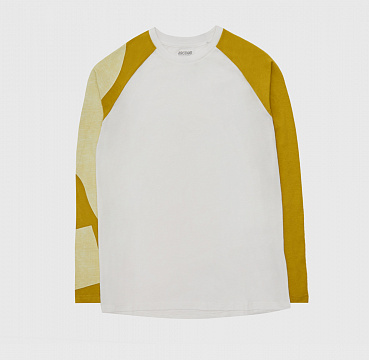 ЛОНГСЛИВ ASICS GRAPHIC LS TEE REAL WHITE/MUSTARD
