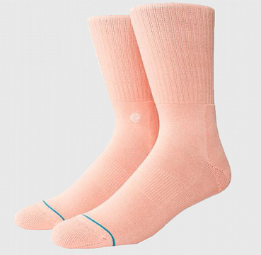 STANCE UNCOMMON SOLIDS ICON PASTEL PINK