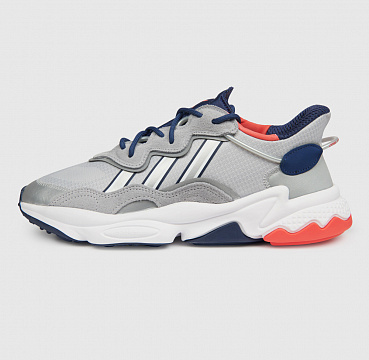 ADIDAS ORIGINALS OZWEEGO SILVER METALLIC/TECH INDIGO/BRIGHT RED