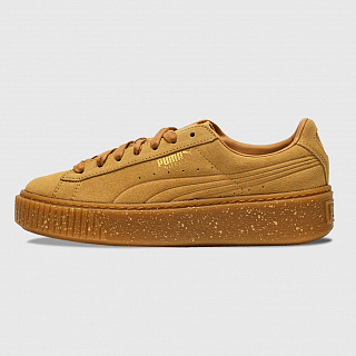 PUMA PLATFORM TRAINERS IN BISCUIT SUEDE SPECKLED