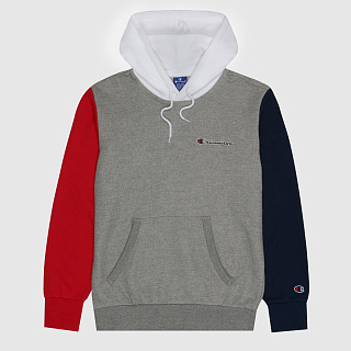 ТОЛСТОВКА CHAMPION COLOUR BLOCK PATCHWORK POCKET SWEATSHIRT DARK GREY