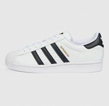 ADIDAS ORIGINALS SUPERSTAR VEGAN CLOUD WHITE/CORE BLACK/GREEN