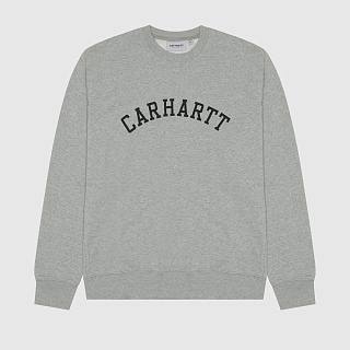 СВИТШОТ CARHARTT WIP UNIVERSITY SWEATSHIRT GREY HEATHER/BLACK