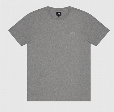 ФУТБОЛКА EDWIN LOGO CHEST TS GREY MARL (GARMENT WASH)