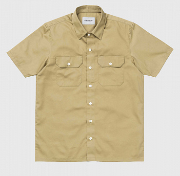 РУБАШКА CARHARTT WIP S/S MASTER SHIRT LEATHER