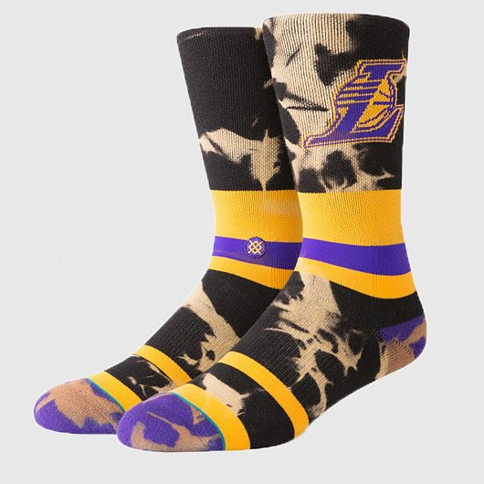 STANCE NBA ARENA LAKERS ACID WASH