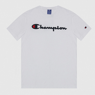 ФУТБОЛКА CHAMPION SATIN SCRIPT LOGO CREW NECK T-SHIRT